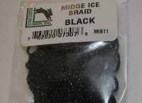 Тесьма для тела Midge Ice Braid Black Hareline