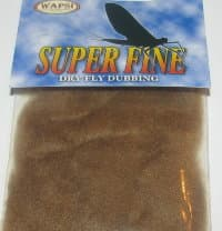 Даббинг Superfine dry fly dub brown Wapsi / Metz