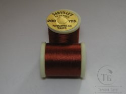 "монтажная нить DANVILLE""S waxed flymaster 6/0  70 den 200 yds tobacco brown №"