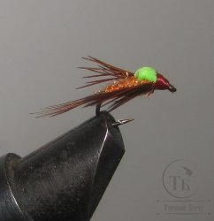 Муха Foam ( 6 ) Pheasant Tail Green Variant кр. № 14