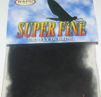 Даббинг Superfine dry fly dub  black Wapsi / Metz