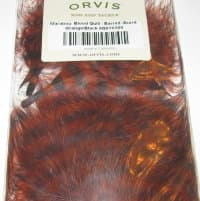 ORVIS Перья марабу Barred Marrabou Burnt Orange Black