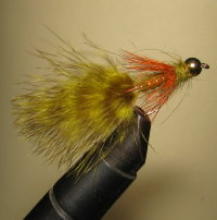 Муха Woolly Bugger Nymph Var. Olive Orange Grizzly GH  кр. Nymph № 6