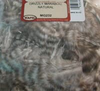 grizzly marabou natural Wapsi