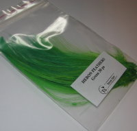 heron fine fibre natural white (dyed green ) (30 fs) SM