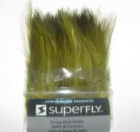 Перо скальпа петуха  strong neck hackle olive Super Fly