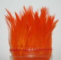 Перо скальпа петуха Огненно Оранжёвое (пнл) \ Strong neck hackle Hot Orange Терский Берег