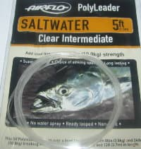 5 ft (1.5 m) polyleader saltwater  24 lb (10.9 kg) clear intermediate Airflo