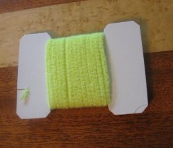 wooly bugger chenille medium  fl yellow