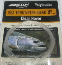 8 ft (2.4 m) polyleader sea trout / steelhead 24 ld (10.9 kg) clear hover Airflo