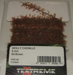 Синель Wolly Chenille 20 - Brown Textreme 3 met.