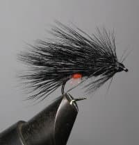 Mуха Caddis ( Black Fl. Orange Butt ) Kumho № 10
