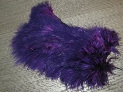 Перо петуха спей / 1/2 Soft Hackle (Spey Chicabou Feathers Lg. Md. Sm)  Purple