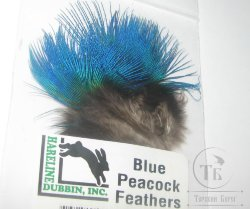Peacock Blue Feathers Hareline