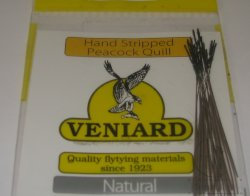 Peacock Quill ( Hend Stripped ) Natural 25шт. Veniard