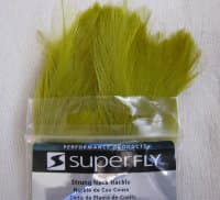 Перо скальпа петуха  strong neck hackle golden olive Super Fly