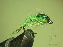 Муха нимфа Teal Tail ( 10 ) Green Nymph крючок scud  № 12