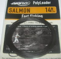14 ft (4.3 m) polyleader salmon  24 lb (10.9 kg) fast sinking  Airflo