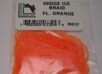 Тесьма для тела Midge Ice Braid Fl. Orange Hareline